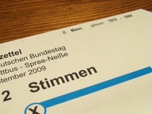 Stimmzettel CC BY-ND 2.0 BernieCB
