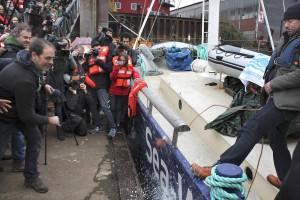 Die private Fluechtlingshilfe Sea Watch hat am Freitag 27 03 2015 ihr Rettungsschiff Sea Watch fue